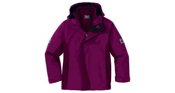 Jack Wolfskin Girls Serpentine Jacket wild berry